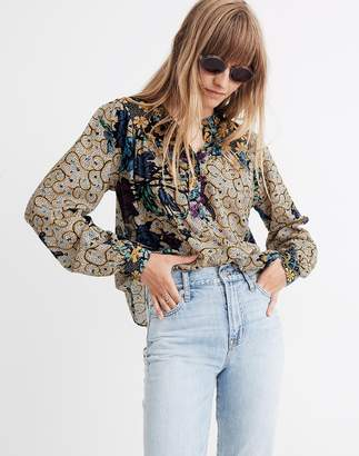 Madewell Warm Ditte Peasant Blouse