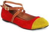 C Label Red & Mustard Color Block Lora Flat