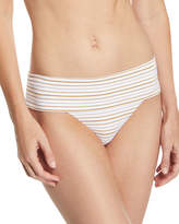 Melissa Odabash Brussels Metallic-Striped Luxe Swim Bottoms