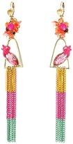 Betsey Johnson Tropical Bird Linear Earrings Earring