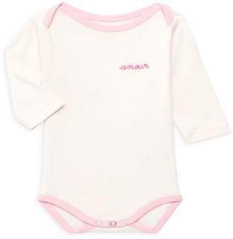 Maison Labiche Baby Girl's Amour Cotton Bodysuit