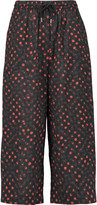 McQ by Alexander McQueen Cropped polka-dot cotton wide-leg pants