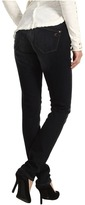 Mavi Jeans Alexa Mid-Rise Super Skinny in Deep Black Nolita (Deep Black Nolita) - Apparel