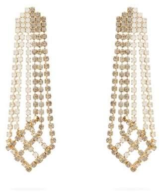 Rosantica Crystal-drop Tassel Earrings - Womens - Grey Multi