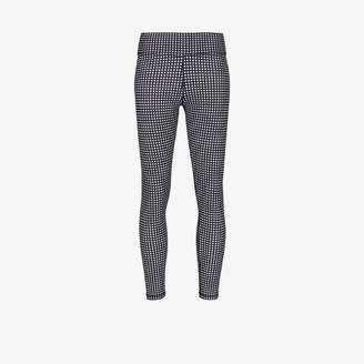 The Upside Gingham mid-length leggings