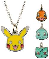 "Pokemon Character 4 to a pack Enamel Interchangeable Pendant with Chain (18"" + 2"" ext.)"