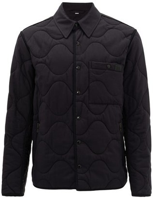 Burberry Cardiff Quilted Cotton-blend Jacket - Mens - Black