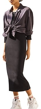 Thumbnail for your product : BA&SH ba & sh Taylor Henley Midi Dress