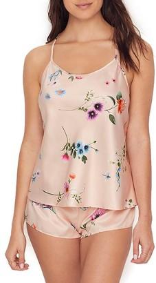 Flora Nikrooz Penelope Floral Charmeuse Cami Pajama Set