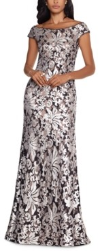 Xscape Evenings Patterned-Sequin Gown