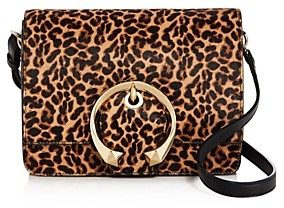 Jimmy Choo Madeline Leopard Print Shoulder Bag
