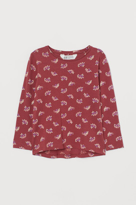 H&M Printed cotton top