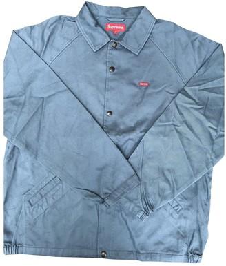 Supreme Blue Cotton Jackets