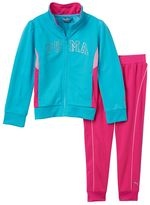 Puma Girls 4-6x Colorblock Glitter Jacket & Pants Set