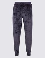 M&S Collection Fleece Velvet Cuffed Hem Jogger