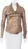 Rick Owens Metallic Leather Jacket