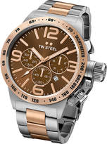 Tw Steel Cb153 Canteen Rose Gold Pvd-plated And Stainless Steel Chronograph Watch