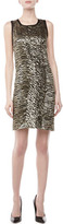 Michael Kors Zebra-Print Shimmery Dress