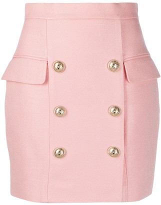 Balmain military-style mini skirt