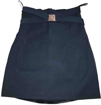 Elisabetta Franchi Blue Cotton Skirt for Women