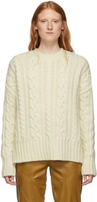 Ami Alexandre Mattiussi Off-White Oversized Cable Knit Sweater