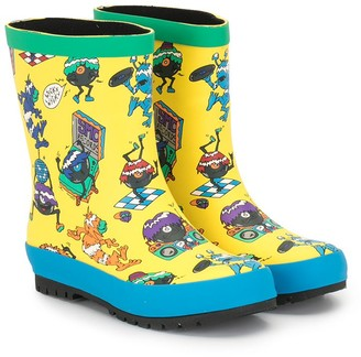 Stella McCartney Kids Monster-Pattern Rain Boots