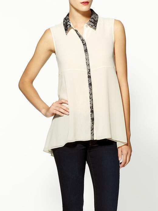 Erin Fetherston Sleeveless Top With Lace Collar