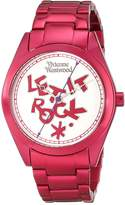 Vivienne Westwood St Pauls Women's Quartz Watch with Multicolour Dial Analogue Display and Red Bracelet VV072SLPK