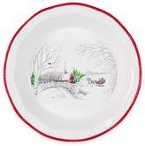 Fitz & Floyd Vintage Holiday Pie Plate