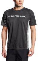 U.S. Polo Assn. Men's Short Sleeve Color Block Rashguard UPF 50 Plus Swim Tee