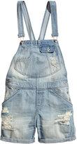 H&M Bib Overall Shorts - Light denim blue - Ladies
