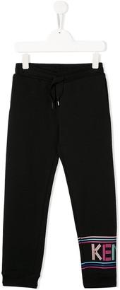 Kenzo Kids Logo-Print Tapered Track Pants