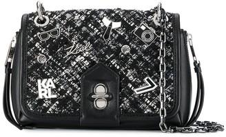 Karl Lagerfeld Paris K/Studio tweed crossbody bag
