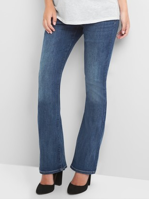 Gap Maternity demi panel baby boot jeans