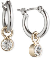 lonna & lilly Ionna & lilly Silver- & Gold-Tone Hoop Earrings with Stone Drop