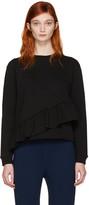 Carven Black Ruffle Pullover