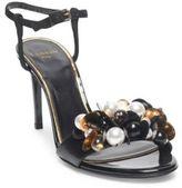 Lanvin Beaded Leather Stiletto Heels