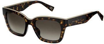 Marc Jacobs Twist Square Sunglasses, Dark Havana