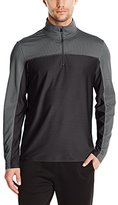Calvin Klein Men's Long Sleeve Quarter Zip Texture Blocking Knit