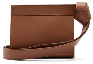 Tsatsas Tape Xs Grained-leather Clutch Bag - Brown