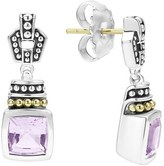 Lagos Women's 'Caviar Color' Square Semiprecious Stone Drop Earrings