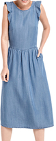 Oasis Ruffle Midi Dress, Denim