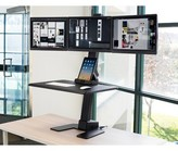 Herrera Triple Monitor Electric Height Adjustable Standing Desk Converter Symple Stuff
