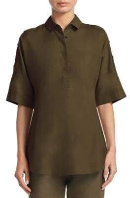 Akris Punto Cotton Button-Front Top