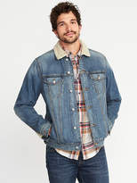 Old Navy Sherpa-Lined Denim Trucker Jacket for Men