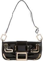 Roger Vivier Black Patent Leather Shoulder Bag