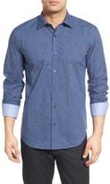 Bugatchi Men's Big & Tall Shaped Fit Print Sport Shirt