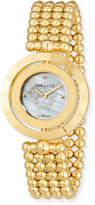 Versace 33mm Eon Reversible-Bezel Watch w/ Beaded Bracelet, Golden