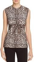 Donna Karan Leopard Print Top