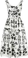 Oscar de la Renta botanical silhouette dress